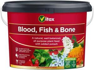 Vitax Blood Fish & Bone Fertiliser 10Kg Tub For Strong Growth New