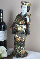 Japanese kutani cloisonne geisha figurine 1950 marked