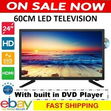 """60cm 24"""" LED Television TV DVD Player Portable 12V Camper Compatibility Caravan"""