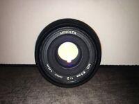 Minolta MD 50mm 1:2 Camera Lens