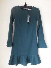 Madam Rage Green Long Sleeve Peplum Dress Size 8