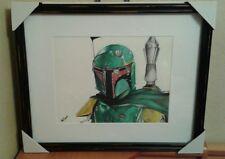 Original 11x14 Boba Fett/Star Wars drawing done by Instagram artist ARTuro