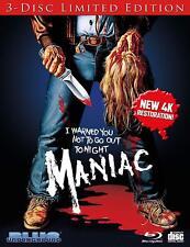 MANIAC   -3 disc set  Limited edition -  Blu Ray - Sealed Region free