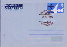 17 MARCH 1975 8 1/2p AIR LETTER HEATHROW AIRPORT HOUNSLOW MIDDLESEX LONDON SHS