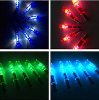12pcs LED Lighted Arrow Nocks Outdoor Compound Recurve Bow Archery Hunting