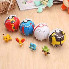 4pcs Bounce Pokemon Pokeball Pikachu Elf Cosplay Pop-up Poke Ball Toy XMAS Gift