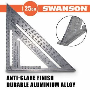 Swanson NA202 Metric Speed Square - 25cm Carpentry Roofing Rafter Angle