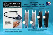 "Outrigger Line Kit Pre-rigged 4 Line Set w/ Two Hal-Lockâ""¢ Hl2-12 Locking Pulleys"
