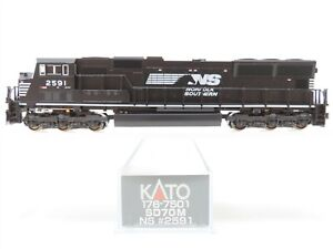 N Kato 176-7501 NS Norfolk Southern EMD SD70M Diesel #2591 w/ DCC - DOES NOT RUN