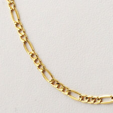 """Yellow Gold 18K MEN'S ITALIAN necklace 19.75"""" - 50 cm fine chain MADE IN ITALY"""