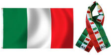 "Wholesale Combo Set Italy Italian Country 3x5 3'x5' Flag and 8""x60"" Scarf"