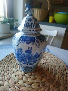 Vase Delft Blau Weiß Delfter Blau Holland Porzellan Vase mit Deckel