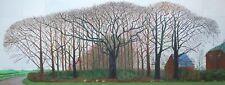 DAVID HOCKNEY A BIGGER TREES - 46X16 INCH LARGE FRAMED HD CANVAS - ARTWORK RARE