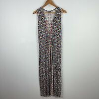 Sussan Womens Dress XL Multicoloured Sleeveless V-Neck Stretch Maxi