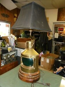 Starboard Table Lamp Nautical Decor Lamp