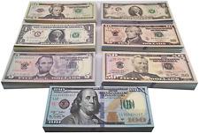 Muvopct Movie Prop Money Full Print 2 Sided,Play Money 140 Sets for Movie,Teachi