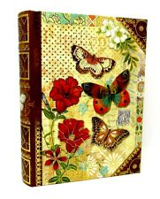 Punch Studio Keepsake Nesting Book Box Rustic Butterfly 51732 Large Gold Foil