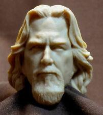 """Jeff Bridges The Big Lebowski HEAD SCULPT, Action figures 1/6 scale 12"""" A-60"""