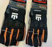 2 Pairs Mongoose L/xl Full Finger Bike Bicycle Padded Gloves BMX Mountain