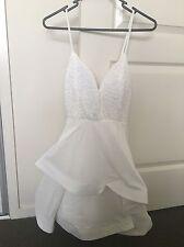 Women's Reverse Branded White Lace Cute Dress Size XS / 6 BNWT Peppermayo
