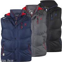New Mens Kangol Designer  Full Zip Lined Gilet Bodywarmer Padded Sleeveless Top