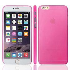 PC de plástico de color de rosa caliente para APPLE iPhone 6G 5.5 0.3MM Ultra Delgado Estuche PLUS Cubierta-UK