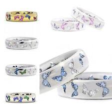 Multi-Styles Butterfly Women 925 Silver Rings Cubic Zircon Wedding Rings Sz 6-10