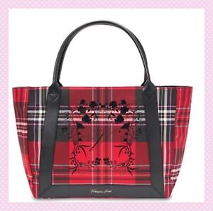 NEW Victoria Secret Red Black Plaid Tote Limited Edition Large 2020 Bag