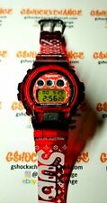 Gshock DW6900 Tribute Supreme Rare Red Jelly Custom UV display US