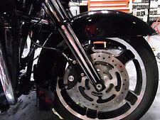 Arlen Ness Black Deep Cut Dual Disk Hot Legs Lowers Axle 00-07 Harley Touring