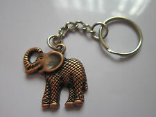 Key Chain Ring antique copper lucky elephant charm pendant gift accessory