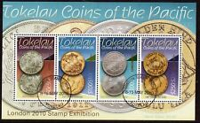 NEW ZEALAND TOKELAU 2010 LONDON COINS MINIATURE SHEET FINE USED