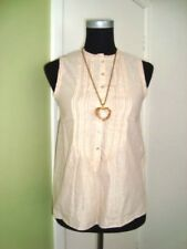 ZARA Blush Beige Shimmering 100% Sleeveless Blouse Top-Size XS/6-Wore Twice
