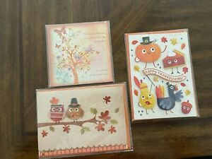 Papyrus Happy Thanksgiving (Lot of 3) Cards - value at $21.00