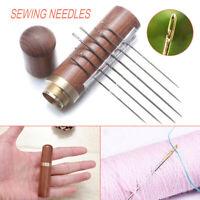 UK Stainless Steel Self-threading Needles Opening Sewing Darning Needles Set
