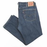 Vintage LEVI'S 514 Blue Denim Regular Straight Jeans Mens W38 L28