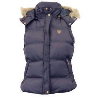 Ladies Gilet Brave Soul Womens Bodywarmer Padded Hooded Jacket Checked Winter
