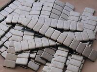 10 x Kleberiegel 60g Silber Auswuchtgewichte Klebegewichte 12x5g Riegel 3,8mm !
