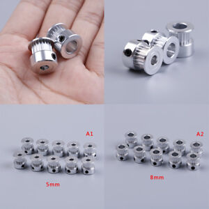 10X Gt2 Timing Pulley 20 Teeth Bore 5Mm 8Mm For Gt2 Synchronous Belt 2Gt Belt
