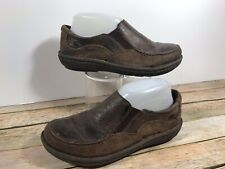 BORN Brown Leather Suede Slip On Loafers Women's Size 7/38