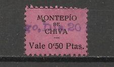 3452-RARO SELLO CUOTA CHIVA VALENCIA REPUBLICA MONTEPIO  0,50 CENTIMOS,DISTINTOS