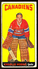 1964 65 TOPPS TALL BOYS HOCKEY #17 CHARLIE HODGE VG MONTREAL CANADIENS CARD