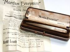 Beautiful Solid 9ct Gold 1933 Deco S Mordan Everpoint Pencil Box & Paperwork