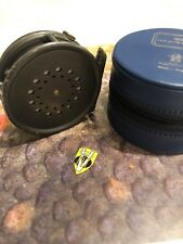 Hardy Perfect 3 1/8 Inch Right Hand Wind Trout Fly Reel with Fly Line & Case