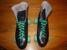 Vintage Riedell Black Leather Roller Skates Men'S Fits 10 Sure-Grip Super X 7L