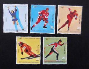 Equatorial Guinea-1980-Winter Olympics/Lake Placid set-MNH
