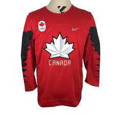 Team Canada Kids Youth Boys L/XL Hockey Jersey Shirt CCM Nike Red Olympic