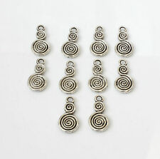 10pcs Tibetan Silver Double Swirl Charms