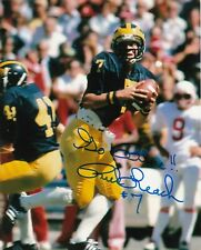 RICK LEACH  MICHIGAN WOLVERINES   ACTION SIGNED 8x10