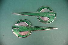 MZ - Emblemsatz glatt Grün/Silber Tankemblem MZ Emblem für MZ ES 250/0 und BK350